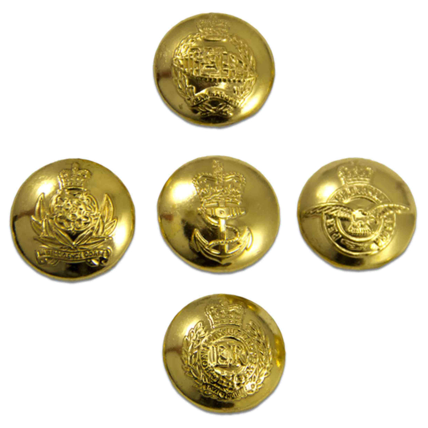 Regimental Blazer Buttons, RLC Buttons, REME Buttons, Guards Buttons, PWRR Buttons, Regiment Button