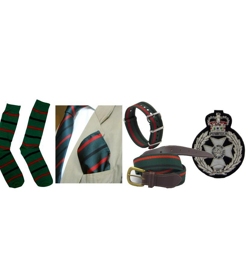 Official Royal Green Jackets Merchandise, The Royal Green Jackets Shop, The Royal Green Jackets PRI Shop, The Royal Green Jackets Museum Shop, RGJ Museum Shop, RGJ Shop, Green Jackets Tie