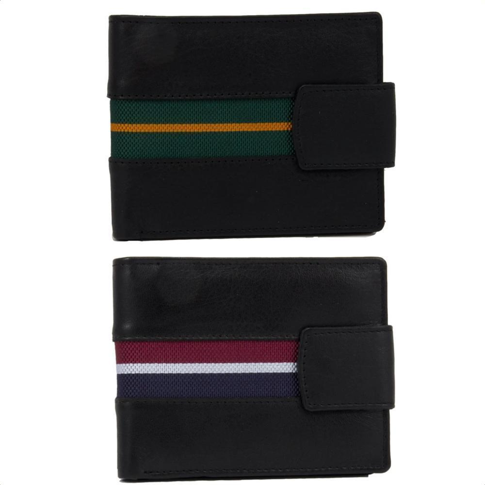 Regimental Wallets in Leather and regimental colours, RAF Wallet, PWRR Wallet, Royal Anglian Regiment Wallet, Royal Artillery Wallet, Royal Signals Wallet