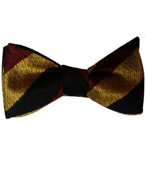 Prince of Wales's Own Regiment of Yorkshire Silk Non Crease Self Tie Bow Tie - regimentalshop.com