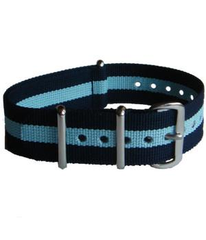 Blue Striped G10 Watch Strap - regimentalshop.com