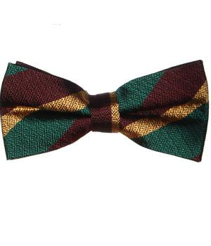 Royal Dragoon Guards Silk Non Crease (Pretied) Bow Tie - regimentalshop.com