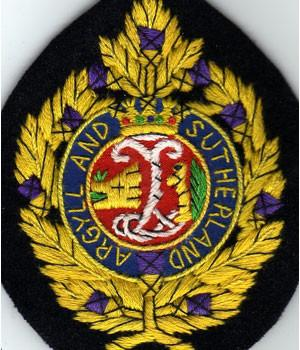 Argyll & Sutherland Highlanders Blazer Badge (Silk embroidered)