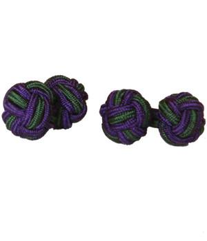 Green & Purple Knot Cufflinks