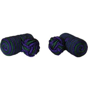 Green & Purple Barrel Cufflinks - regimentalshop.com
