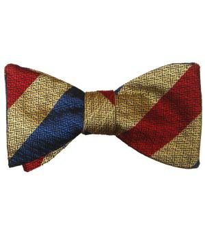 Queen's Dragoon Guards SAG Silk Non Crease Self Tie Bow Tie - regimentalshop.com