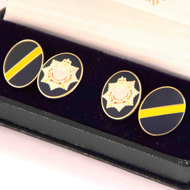 10 QOGLR (Queen's Own Gurkha Logistic Regiment) Cufflinks - regimentalshop.com