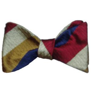Royal Regiment of Fusiliers Association Silk Non Crease (Self Tie) Bow Tie - regimentalshop.com