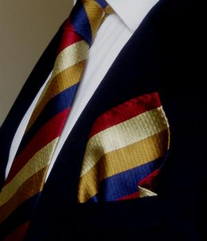 Royal Regiment of Fusiliers (Assoc.) Silk Non Crease Pocket Square - regimentalshop.com