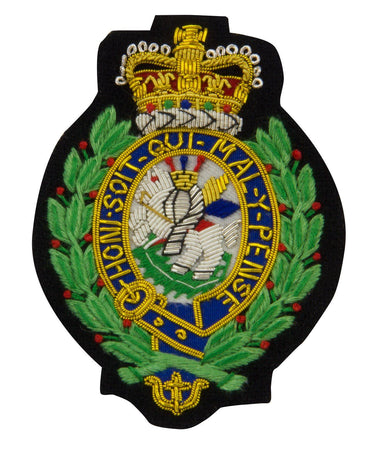 Royal Regiment of Fusiliers Green Blazer Badge - regimentalshop.com