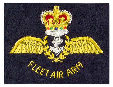 Fleet Air Arm (Silver Anchor) Blazer Badge - regimentalshop.com