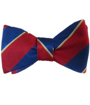 18 Battery Royal Artillery Silk (Self Tie) Bow Tie - regimentalshop.com