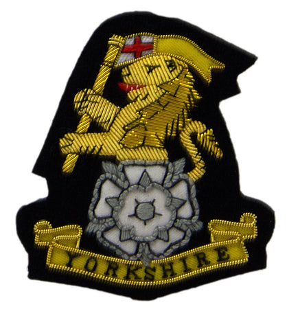 Yorkshire Regiment White Rose Blazer Badge - regimentalshop.com