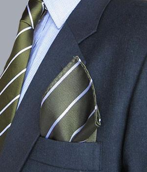 Green Howards Silk Pocket Square - regimentalshop.com