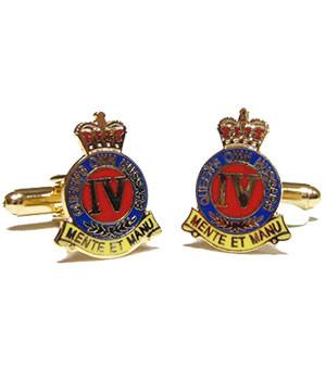 4th Queen's Own Hussars Cufflinks - regimentalshop.com