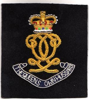 Queen's Own Hussars (Monogram) Blazer Badge