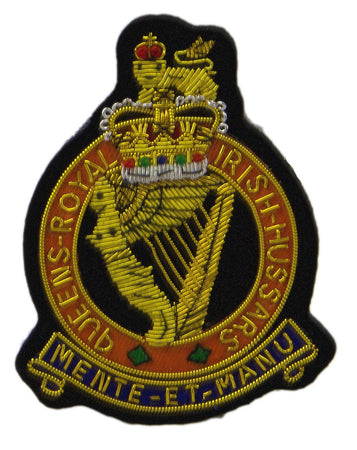 Queen's Royal Irish Hussars Blazer Badge - regimentalshop.com