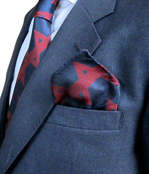 Honourable Artillery Company Silk Non Crease Pocket Square - regimentalshop.com