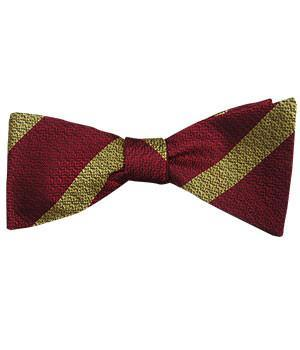 9th/12th Royal Lancers Silk Non Crease (Self Tie) Bow Tie - regimentalshop.com