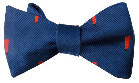 "Coldstream Guards ""Bourne May"" Self Tie Silk Bow Tie"
