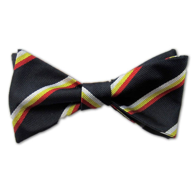 Royal Scots Dragoon Guards Silk (Self Tie) Bow Tie - regimentalshop.com