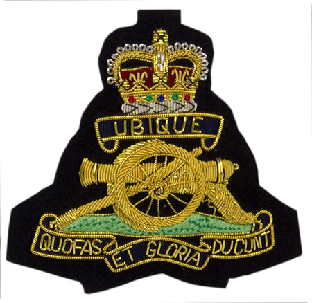 Royal Artillery Queen's Crown Blazer Badge - regimentalshop.com