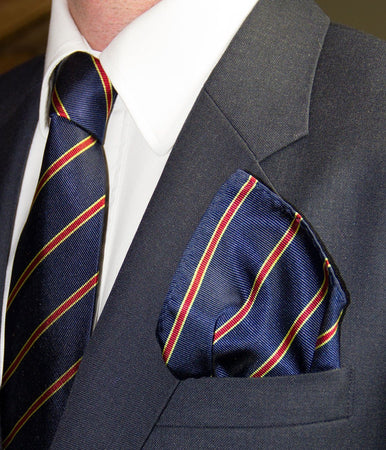 Sandhurst Silk Pocket Square - regimentalshop.com