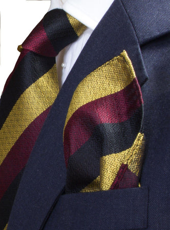 Prince of Wales's Own Regiment of Yorkshire Silk Non Crease Pocket Square - regimentalshop.com