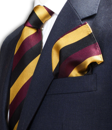 Prince of Wales's Own Regiment of Yorkshire Silk Pocket Square - regimentalshop.com