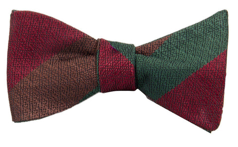 Royal Tank Regiment Silk Non Crease (Self Tie) Bow Tie