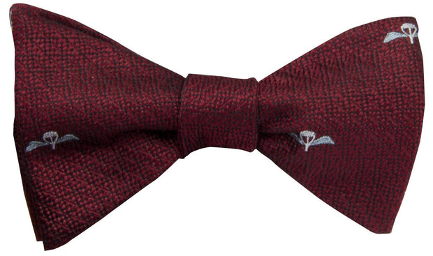 Parachute Regiment Silk Non Crease (Self Tie) Bow Tie - regimentalshop.com