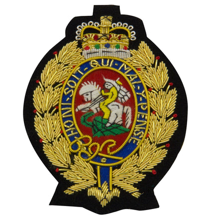 Royal Regiment of Fusiliers Gold Blazer Badge - regimentalshop.com