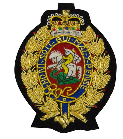 Royal Regiment of Fusiliers Gold Blazer Badge