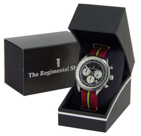 Royal Artillery (Stable Belt) Military Chronograph Watch - regimentalshop.com
