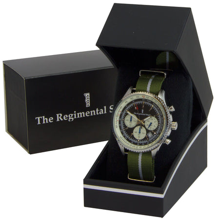 Green Howards Regiment Military Chronograph Watch - regimentalshop.com