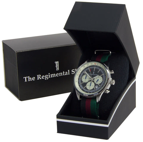 Queen's Lancashire Regiment Military Chronograph Watch