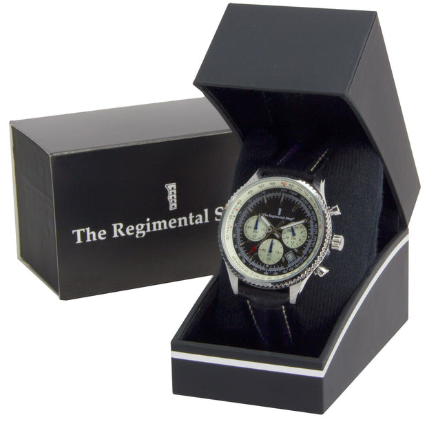 Military Chronograph Watch with Black G10 Strap - regimentalshop.com