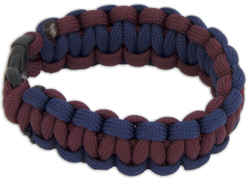 GREEN HOWARDS PARACORD WRISTBAND WITH BADGES
