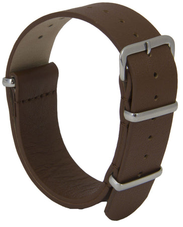 Real Brown Leather G10 Watch Strap