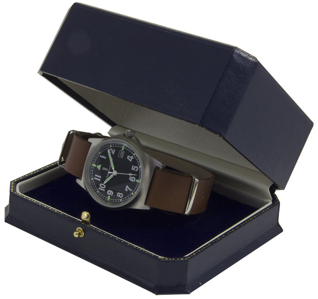 G10 Military Watch with Brown Leather Watch Strap - regimentalshop.com