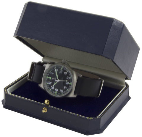 Copy of Military Watch (G10) with Real Black Leather Strap