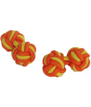 Orange & Yellow Knot Cufflinks