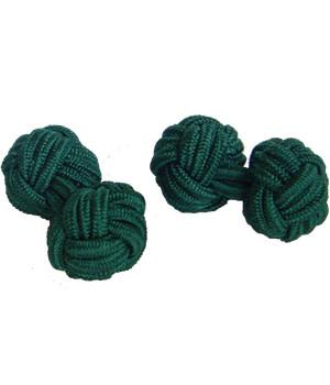 Bottle Green Knot Cufflinks