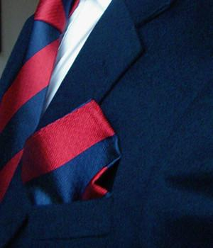 Adjutant General's Corps Silk Non Crease Pocket Square - regimentalshop.com