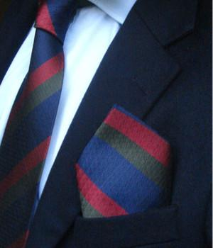Black Watch Silk Non Crease Pocket Square - regimentalshop.com