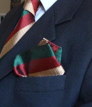 Mercian Regiment Silk Non Crease Pocket Square - regimentalshop.com