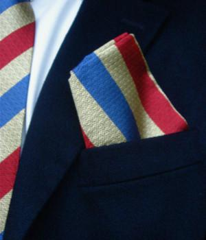 QDG Subalterns Action Group Silk Non Crease Pocket Square - regimentalshop.com