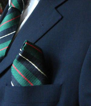Royal Irish Rangers Silk Non Crease Pocket Square - regimentalshop.com