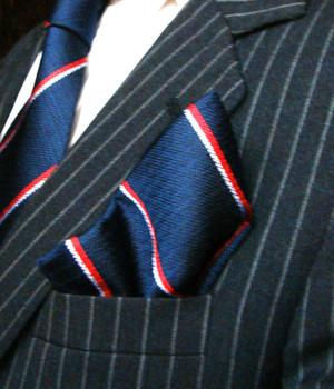 Royal Navy Silk Non Crease Pocket Square - regimentalshop.com