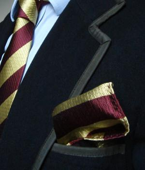 Royal Regiment of Fusiliers Silk Non Crease Pocket Square - regimentalshop.com